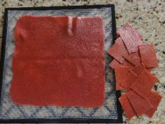 Dehydrated fruit leather recipe. This stuff is like crack!