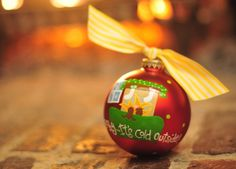 Baby It's Cold Outside Ornament | underthecarolinamoon.com #cotoncolor #cotoncolorschristmas #cotoncolorsornaments #utcm #underthecarolinamoon #christmasornament #babyitscoldoutside