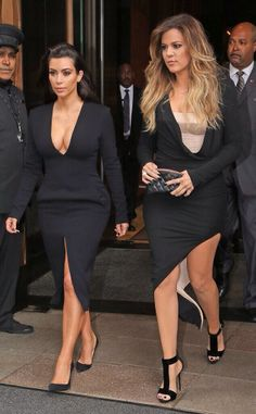 Sassy Blog Kim K & Khloe stuntin in ALL black #kardashian #sisters #allblackeverything #kimkardashian #khloekardashian #sassy #chic #chick #sassyblog