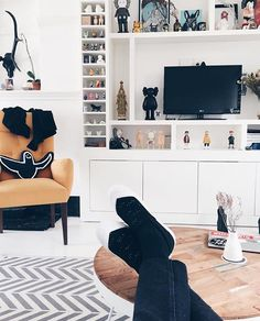 Start Your Engines. - We Are Stellar Designs Hypebeast Room, Living Room Setup, Shoe Room, Interior Architecture, Interior Design, Apartment Living, Men Apartment, Man Room, Home And Living