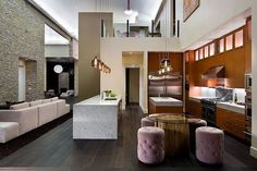 16 Open Concept Kitchen Designs In Modern Style That Will Beautify Your Home - design-ideen Contemporary Kitchen Tables, Modern Kitchen Design, Modern Kitchens, Colorful Kitchens, Contemporary Furniture, Contemporary Style, Küchen Design, House Design, Interior Design