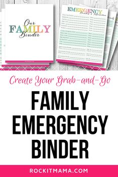 Family Emergency Binder - Free Printables to Create Your Own - Rock It Mama