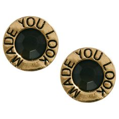 ASOS Vintage Look 'Made You Look' Earrings ($12) ❤ liked on Polyvore