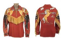 Nudie Cohen shirt for ROY ROGERS with a Rearing TRIGGER on the Back & Shoulder Plates....Yipeeeee! and Roy had to have the FRINGE!