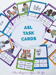 ASL task cards