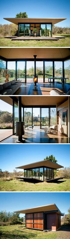 The False Bay Writer's Retreat. A stunning, modern cabin with a unique design…