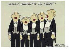 Comedian Harmonists -Loriot- Geburtstags-Postkarte