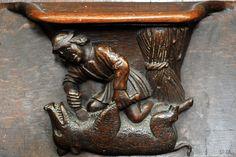 Détail des miséricordes - Stalles (XVIe s.) de l'abbatiale de la Ste-Trinité à Vendôme | Flickr - Philippe 28