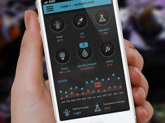 Saltwater Tank Dashboard - iPhone Version