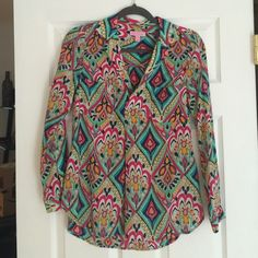 Lilly Pulitzer Boston Top in Crown Jewels SZ. XS EUC! Lilly Pulitzer Tops Blouses