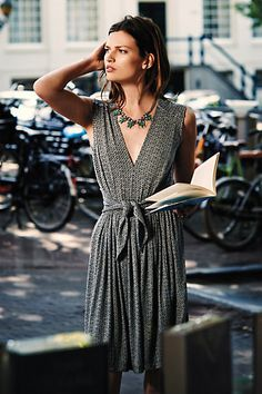 love this tie-waist dress, and it's an extra 25% of with code EXTRAEXTRA #anthrofave http://rstyle.me/n/r2kkzr9te