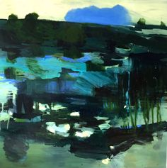 """ Blue Cloud "" oil, Bjørnar Aaslund, 2015"
