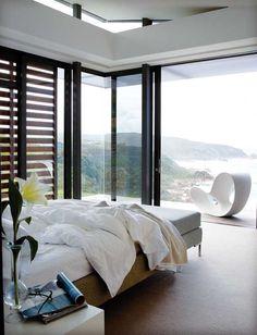 Amazing ocean view coastal homes, stacking doors, dream rooms, dream bedroo Dream Rooms, Dream Bedroom, Home Bedroom, Bedroom Decor, Design Bedroom, Modern Bedroom, Bedroom Wall, Wall Decor, Home Interior