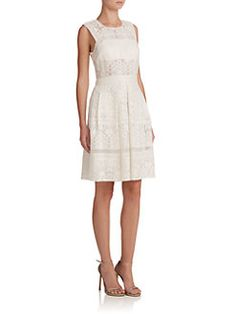 Rebecca Taylor - Silk Lace & Mesh Dress