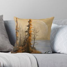 T Art, Jenni, Designer Throw Pillows, Pillow Design, Full Moon, Top Artists, Art Prints, Landscape, Printed