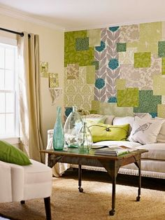Love the colors......Colorful Bohemian wallpapered Brights from BHG