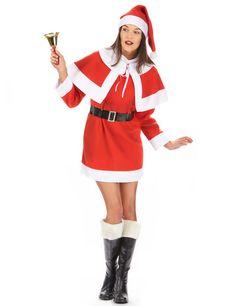 a02c211d35 Disfarce Mãe Natal mulher vestido com capa