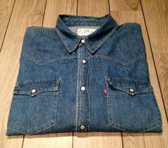 Snygg Levis Jeansskjorta Blå Stl. XXL på Tradera. XXL och större  38cfdb7f7e730