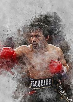 Manny Pacquiao, Poster Prints, Studio, Painting, Beautiful, Art, Art Background, Painting Art, Kunst