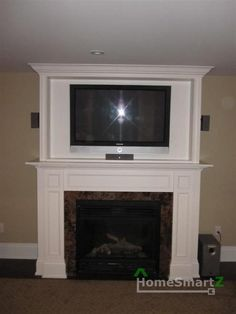 Fireplaces, Fireplace Inserts And Stoves, Insert Gas Fireplace Fireplace Molding, Wall Mounted Fireplace, Tv Above Fireplace, Fireplace Built Ins, Wall Molding, Wall Mounted Tv, Fireplace Ideas, Built In Electric Fireplace, Modern Kitchen Furniture