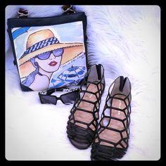 72 hour sale!! 👠J/Slides Flats NWT J/Slides.  Gladiator Flats with a zip back! J/Slides Shoes Flats & Loafers