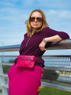 Torebka, nerka z naturalnej skóry. Leather handbag, beltbag Vogue, En Vogue