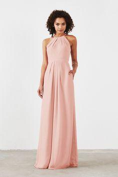 Isabelle Bridesmaid Dress in Blush in Chiffon Beach Wedding Bridesmaid  Dresses bfc8ea373308