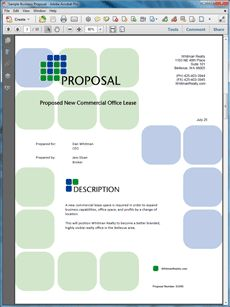 The Commercial Office Real Estate Lease Proposal Is One Of Many Sample  Business Proposals Included With Proposal Pack Proposal Templates And  Proposal ...  Commercial Proposal Template