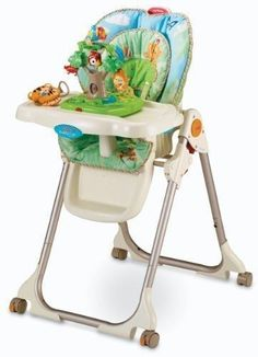 Fisher Price Rainforest Deluxe High Chair Baby Toys Play Lights Healthy Care Toy