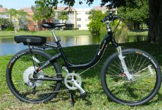 This black pearl metallic gloss version of the Stride 500 is an e-bike that promises comfort and a smooth ride for all levels of riders. Combining a superior-strength, high-torque 500-watt direct-drive motor mounted in the rear wheel, which delivers 720 watts at peak, with a high capacity 36-volt, 9-amp hour advanced lithium ion battery (LiFePO4), you are guaranteed to enjoy a long ride around town. Strength, Electric, Metallic, Smooth, Pearl, Bike, Amp, Model, Black