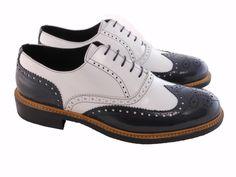 Scarpe derby uomo bicolore vintage b856e70082f