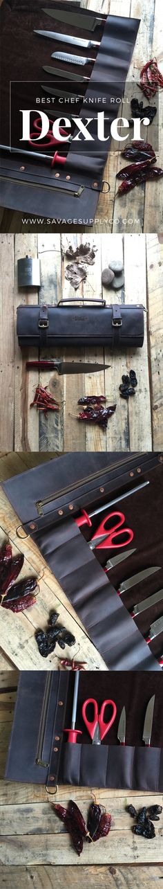Leather Chef knife roll Under $300