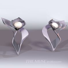The muse in blossom earrings by Su Submissive, Muse, Cufflinks, Jewelry Design, Pearl Earrings, Jewellery, Accessories, Atelier, Pearl Studs