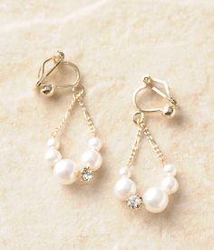 貝パールイヤリング Simple Jewelry, Unique Earrings, Beautiful Earrings, Beaded Earrings, Beaded Jewelry, Handmade Wire Jewelry, Earrings Handmade, Homemade Jewelry, How To Make Earrings