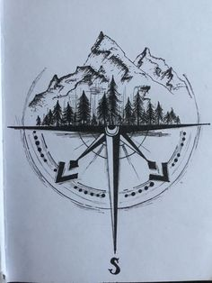 Compass Art, Compass Tattoo Design, Forearm Tattoo Design, Compass Drawing, Mini Tattoos, Body Art Tattoos, Small Tattoos, Tattoos For Guys, Cool Tattoos