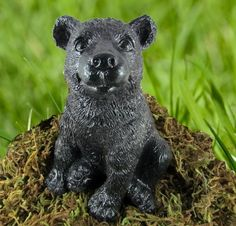 Bear Cub Concrete Statue Cast Stone Cement | eBay $19