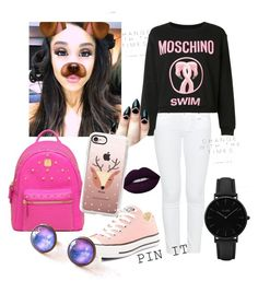 """""""Untitled #6"""" by wk-wiktoria on Polyvore featuring Paige Denim, Moschino, Converse, MCM, CLUSE and Casetify"""