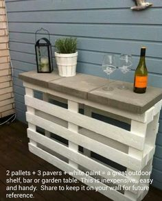 Easy outdoor table