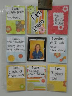 I Am Poetry. Cool idea for back to school or for open house.