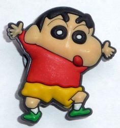 CRAYON SHIN-CHAN red shirt yellow pants JIBBITZ Crocs Hole Bracelet Shoe Charm by Crayon Shin Chan. $6.99
