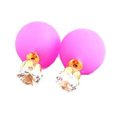 Fashion Candy Color Double Side Ball Stud Earrings / AZER... https://www.amazon.com/dp/B01E0ZRWC4/ref=cm_sw_r_pi_dp_x_wOgFybJAG0J51