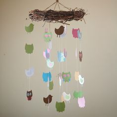 Owl and Bird Paper Mobile