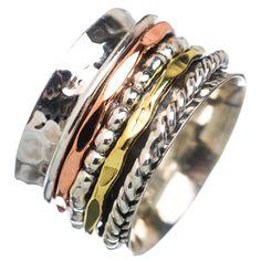 Spinner Ring - ThreeTone Five Spinner Bands - keja Jewelry – Keja Designs Jewelry