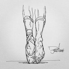 """""""#ballet #foot . . . #스케치없이 #막그림 #펜 #펜화 #펜드로잉 #펜그림 #펜아트 #스케치 #그림 #드로잉 #일러스트 #낙서 #데일리아트 #데일리드로잉 #인스타아트 #인스타그림 #그림스타그램 #내가그린그림 #black #white #blackandwhite"""""""