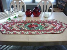 Christmas Table Runner featuring by KaTerryTheSewSisters on Etsy, $18.00