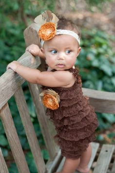 If I ever have another little girl, I am going to get a onesie to wrap in lace!! Love!!