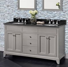 Grey Shaker Cabinets With Oil Rubbed Bronze Pulls And