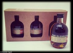 Coffret whisky, 3 x 10 cl, Glenrothes (Galeries Lafayette Gourmet, 38 €).  www.galerieslafayette.com