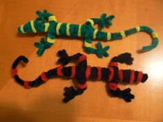pipe cleaner geckoes
