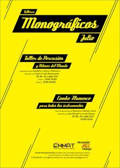 Cartel de Monográficos de Julio en la EMMAT 2013